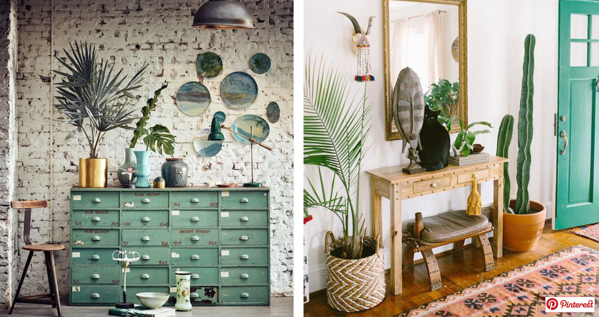 Interior Ideas: BOHO AND GREEN – GRAZERMADL