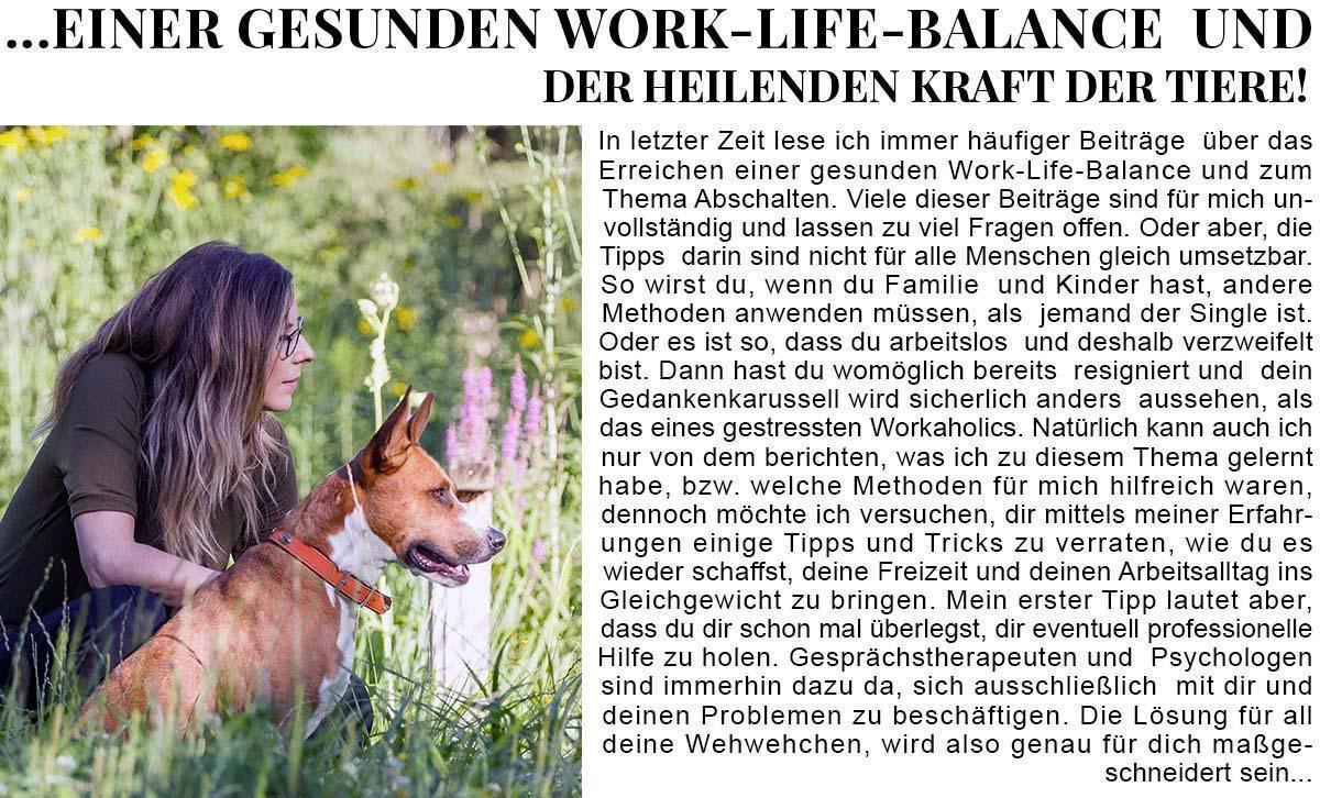 Vom Abschalten-einer gesunden work life balance...